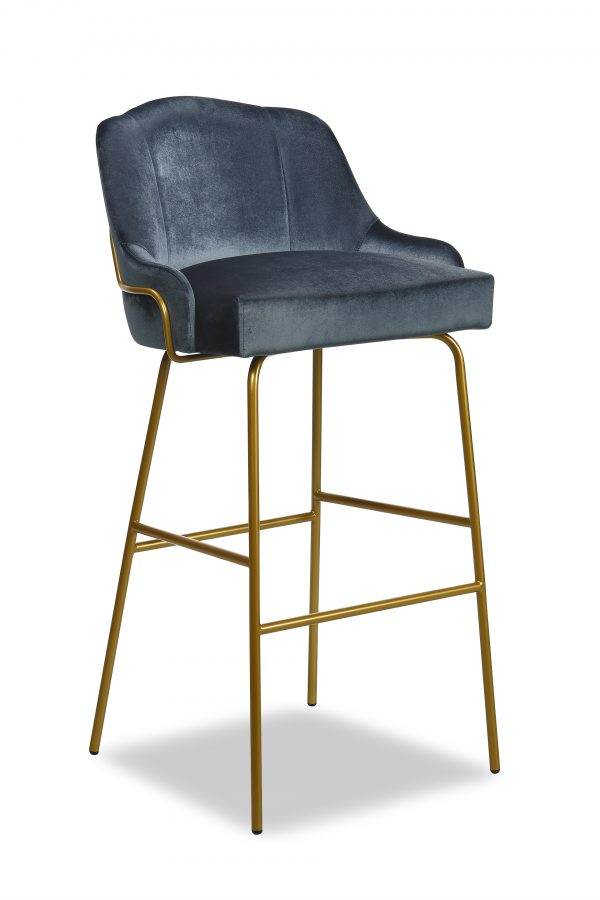 London Tube metal bar stool