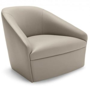 Hallow lounge chair hotel italian manufactured
