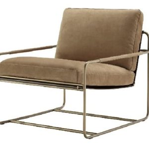 Riviera lounge chair front view hotel lobby italian manufactured