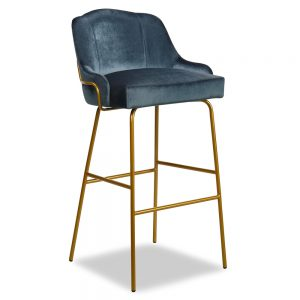 London Tube metal frame barstool