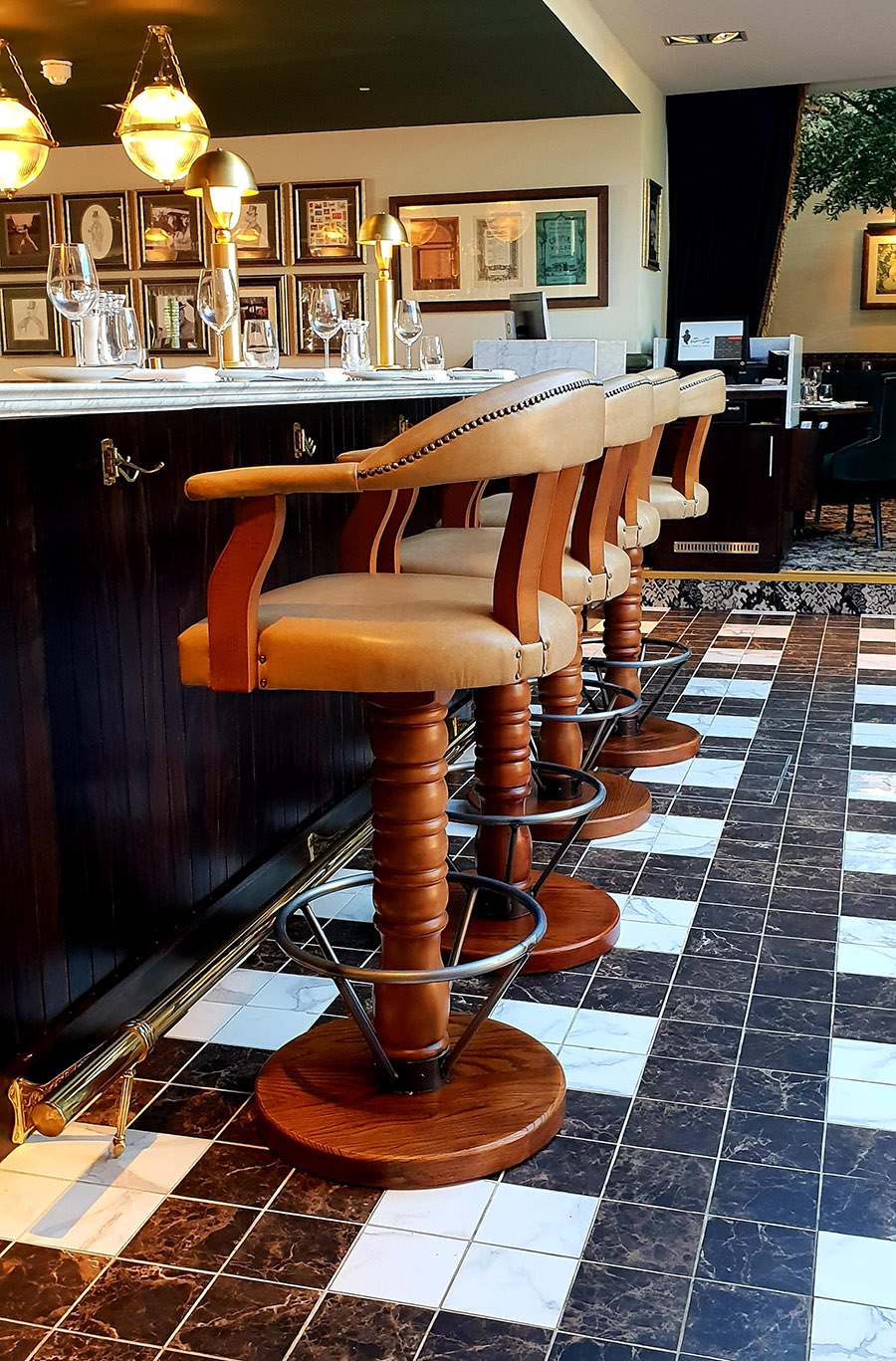 bespoke swivel bar stools