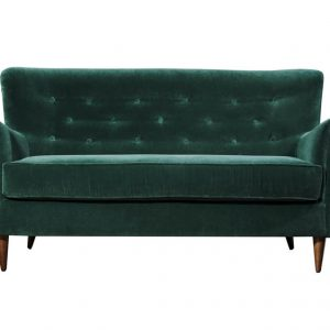 Contract furniuture - green velvet sofa by Baron