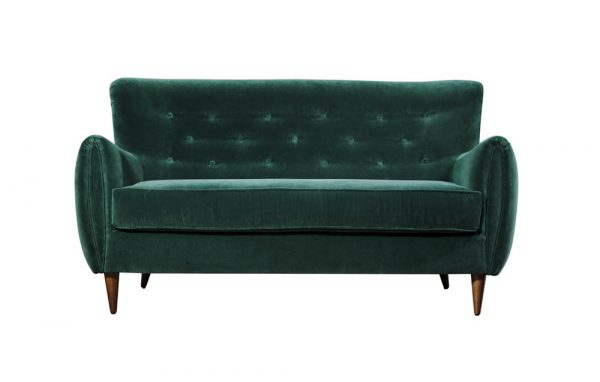 Contract furniuture - green velvet sofa by Baron