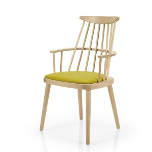 Contract furniture dining chair - Bamba 387 - front